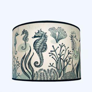 Seahorse Pendant Lampshade Large Blue