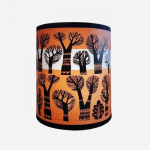 Winter Trees Lampshade Small Orange