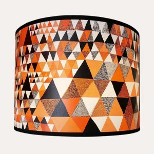 Triangles Lampshade Reglar Orange