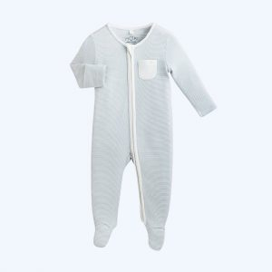 Zip-Up Sleepsuit Blue Stripe