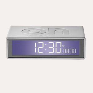 Flip + Reversible Alarm Clock Alumiunium