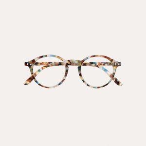 #D Reading Glasses Blue Tortoise
