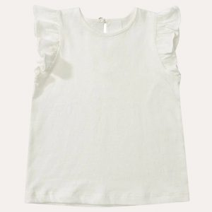 Edie White Frill Top