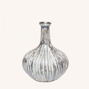 Athen Stone Stripe Small Vase