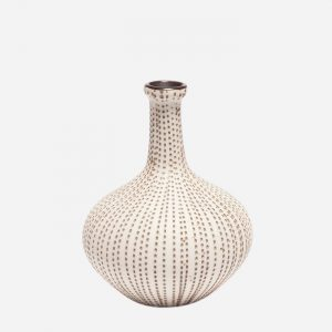 Athen Brown Dots Small Vase
