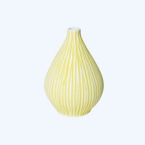Kobe Yellow Stripe Vase