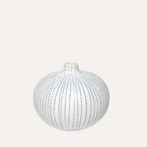 Bari Blue Dots Medium Vase