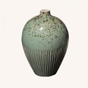 Ebba Freckles Green Medium Vase
