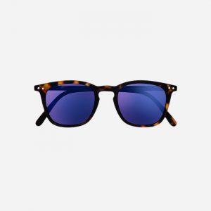 #E Sunglasses Tortoise Mirror