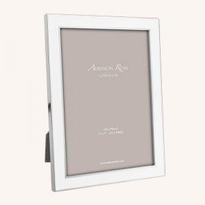 White Enamel Silver Frame 8×10