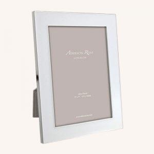 White Enamel Silver Wide Frame