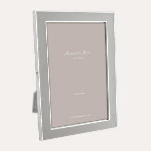 Chiffon Enamel Silver Frame