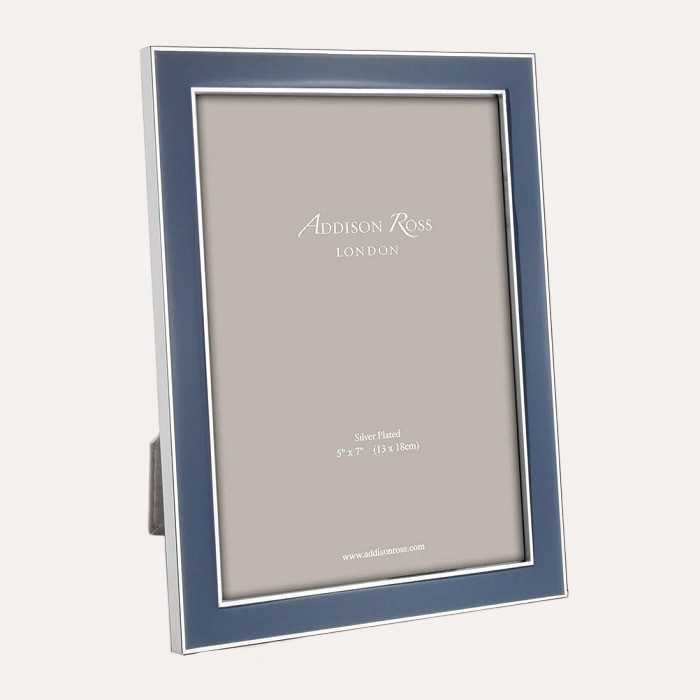 Denim Enamel Silver Frame