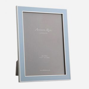 Powder Blue Enamel Silver Frame