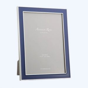 Navy Enamel Silver Frame