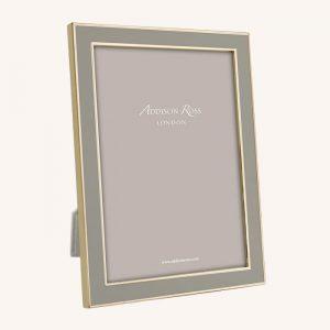 Taupe Enamel Gold Frame