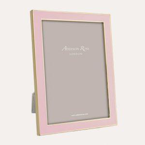 Pastel Pink Enamel Gold Frame