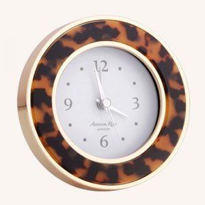 Tortoiseshell Gold Alarm Clock