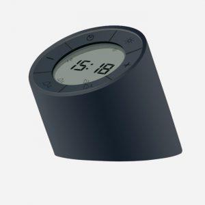 The Edge Light Alarm Clock Black