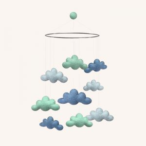 Clouds Mobile Mint/Blue