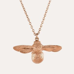 Baby Bee Necklace Rose Gold