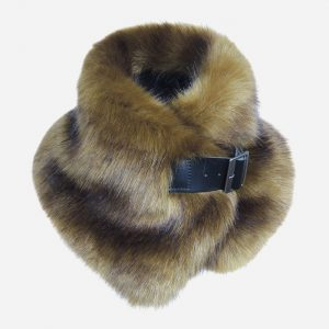 Faux Fur Buckle Collar Olive