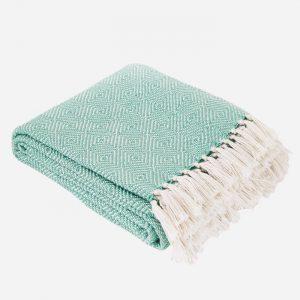 Diamond Blanket Aqua