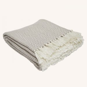 Herringbone Blanket Chinchilla