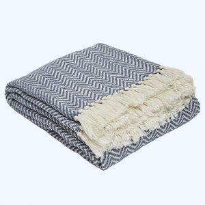 Herringbone Blanket Navy