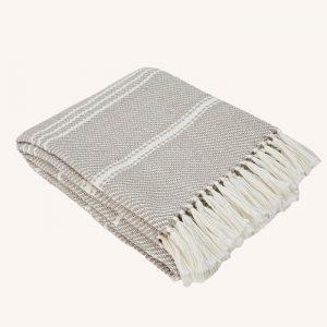 Oxford Stripe Blanket Chinchilla