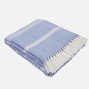 Oxford Stripe Blanket Cobalt