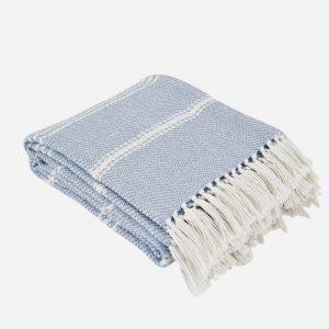 Oxford Stripe Blanket Lavender