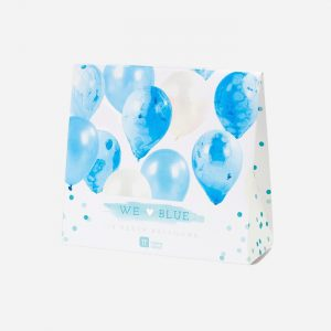 We Heart Blue Marble Balloons 12 Pack