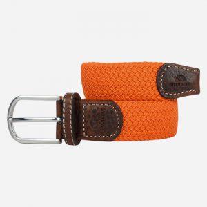 Plain Braid Belt Paprika Orange