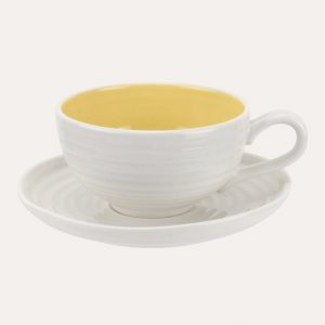 Colour Pop Tea Cup and Saucer Sunshine