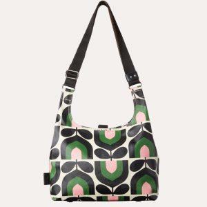 Stripe Tulip Print Midi Sling Bag Spring