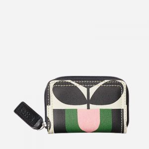 Stripe Tulip Medium Zip Wallet Spring