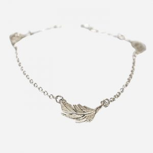 Three Feather Bracelet Silver
