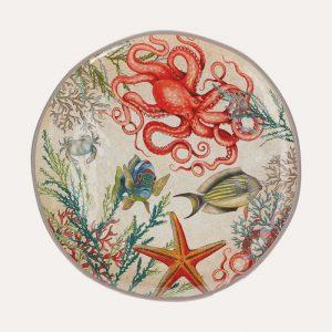 Sea Life Melamine Round Platter