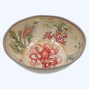 Sea Life Melamine Large Salad Bowl