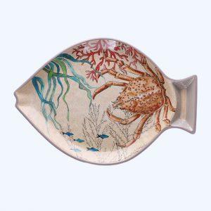 Sea Life Melamine Fish Plate