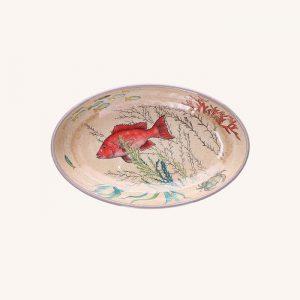 Sea Life Melamine Oval Plate