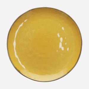 Concerto Round Platter Yellow