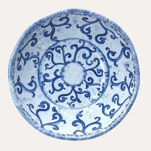 Blue Melamine Salad Bowl
