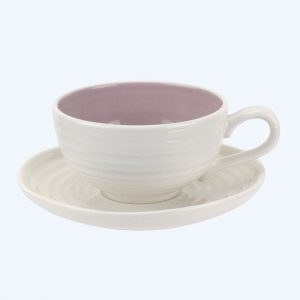 Colour Pop Tea Cup and Saucer Mulberry