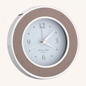 Blush Ostrich Silver Alarm Clock