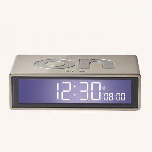 Flip + Reversible Alarm Clock Light Gold