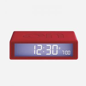 Flip + Reversible Alarm Clock Red