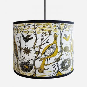 Gamebird Pendant Lampshade Regular Mustard