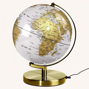 Globe Light Metallic Brass/Arctic White